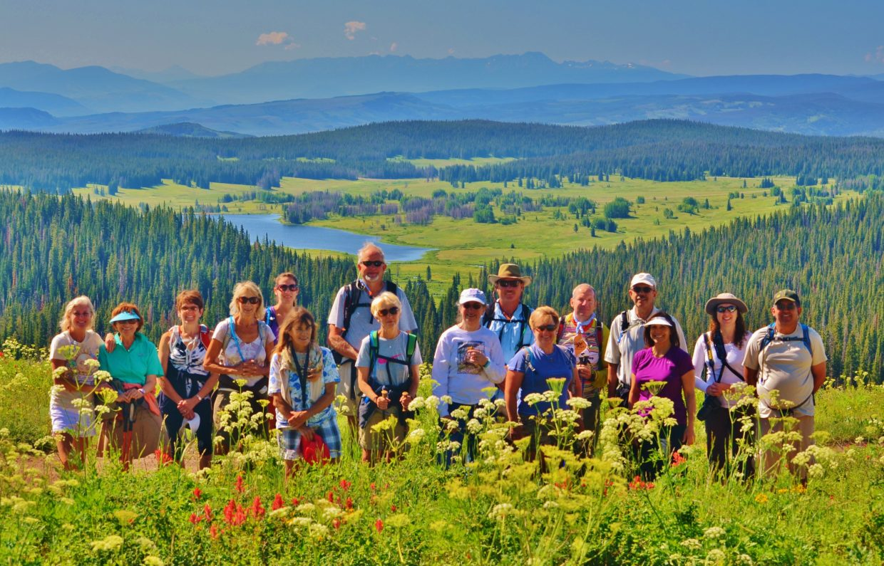 Steamboat Christian Center summer hiking group enjoys the view from a trail up on Rabbit Ears Pass and Dumont Lake on July 20. Submitted by: Rebecca Musso