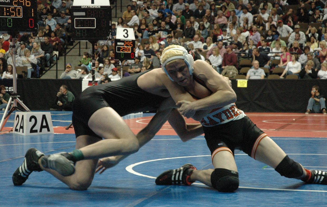 Hayden junior Mitch Doolin advanced to the Class 2A 145-pound state wrestling championship semifinals, where he lost to Paonia's Justin Smith.