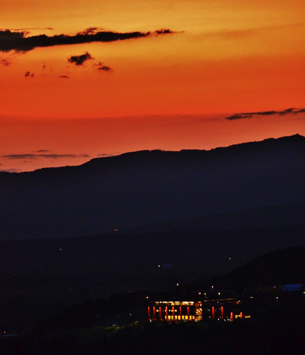Sunset over Colorado Mountain College's new academic center at the grand opening Thursday. Submitted by: Rebecca Musso