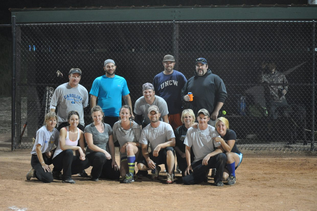 Tuesday night coed B League champions Russells Auto/Sunshine Towing.
