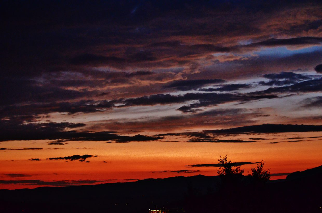 Lovely layers of a Steamboat sunset. Submitted by: Rebecca Musso