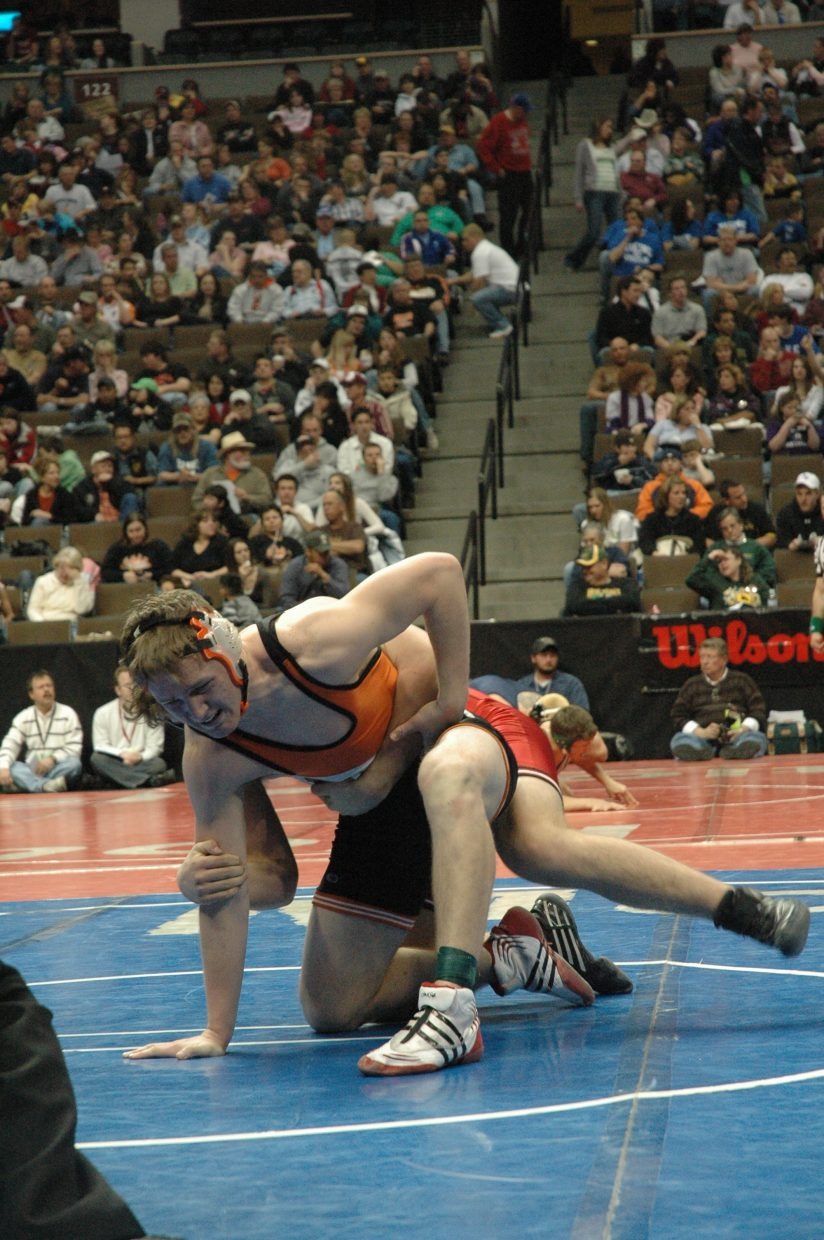 Hayden junior Coy Letlow advanced to the Class 2A 189-pound state wrestling championship semifinals, where he lost to Burlington's Mike Satterly.