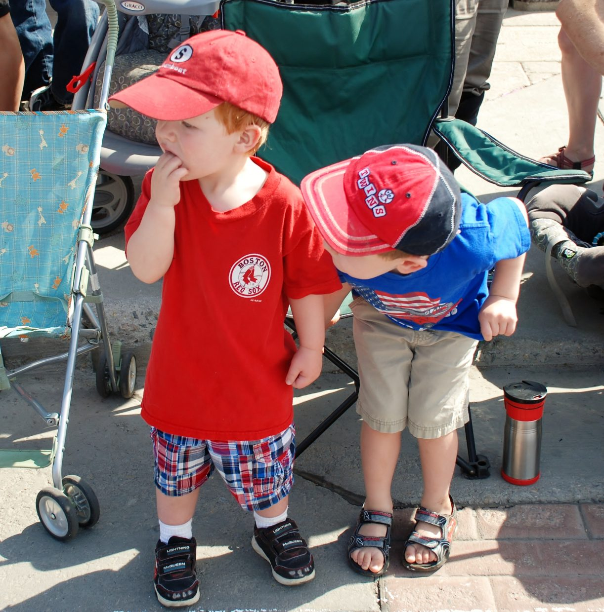 Anticipation at the Fourth of July parade. Submitted by: Wendy Harvey