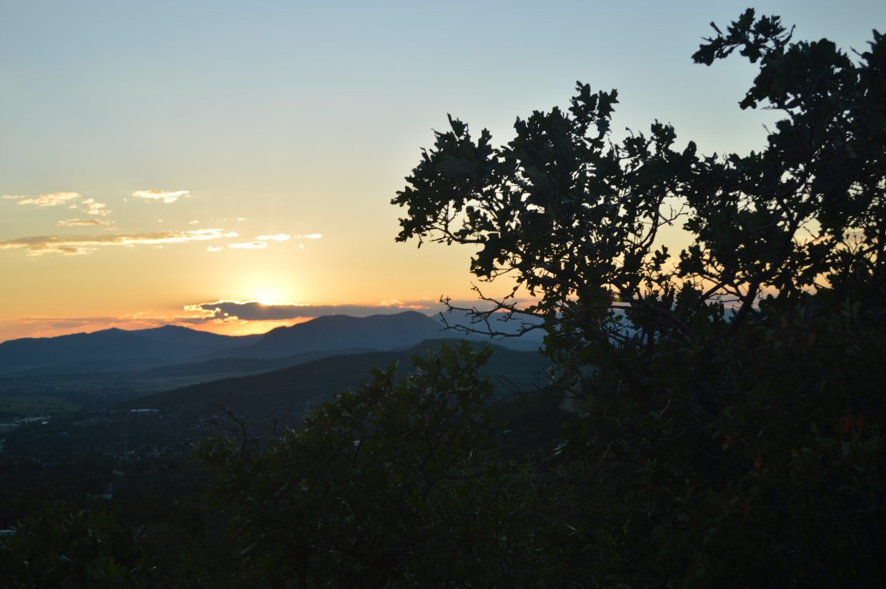 Sunset gives Sleeping Giant the last bit of warmth. Submitted by: Glenn Little II