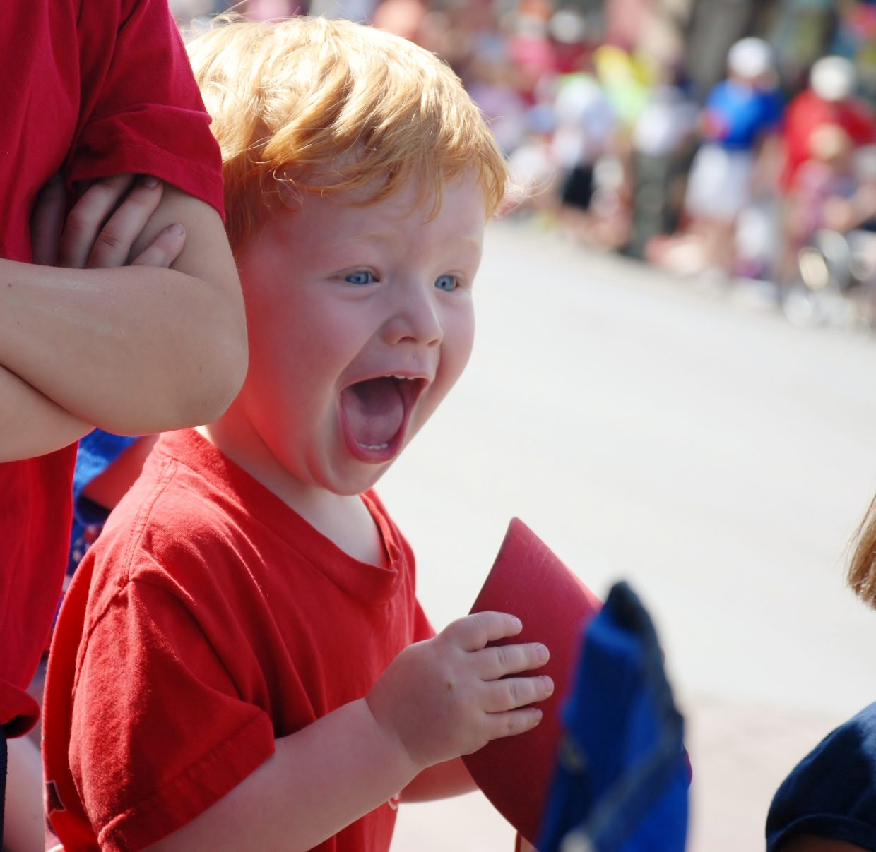 Griffin loves the fire trucks at the Fourth of July parade in Steamboat. Submitted by: Wendy Harvey