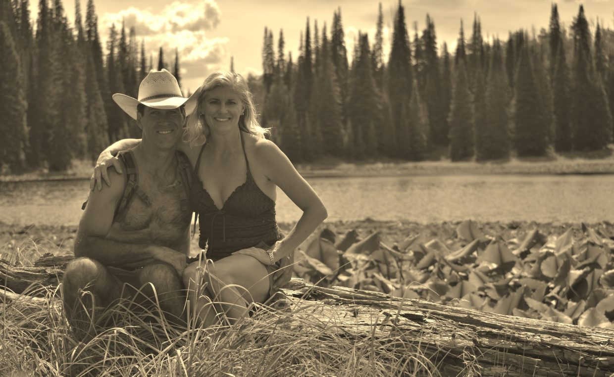 Scott and Rebecca enjoy a hike to a mountain lake while camping in the Zirkel Mountain Wilderness. Submitted by: Rebecca Musso