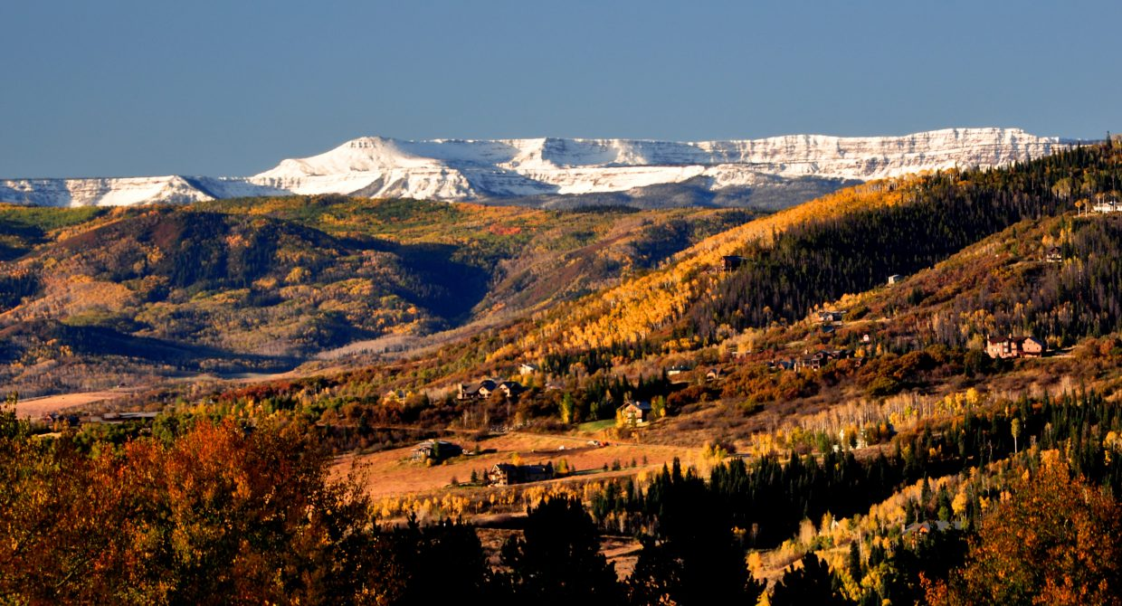 First snow on Flat Tops 2011. Submitted by: Ollie Ballard