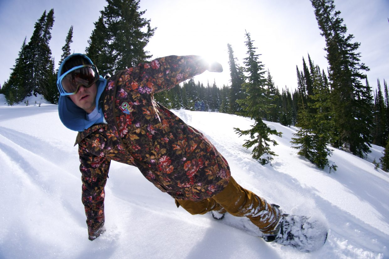 Jarod Bordynoski looking for some powder on Buff Pass. Submitted by: alex sullivan