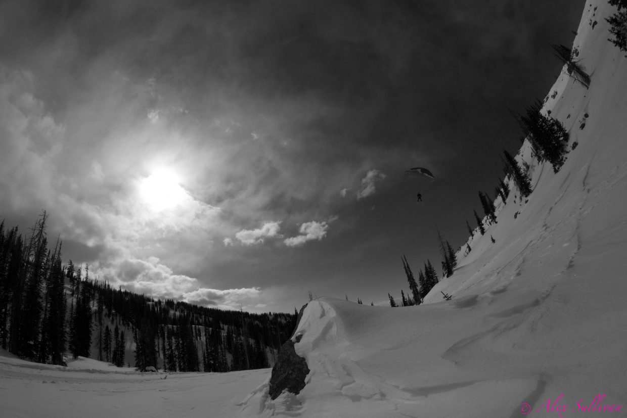 Kerry Lofy speed flying on Soda Mountain. Submitted by: Alex Sullivan