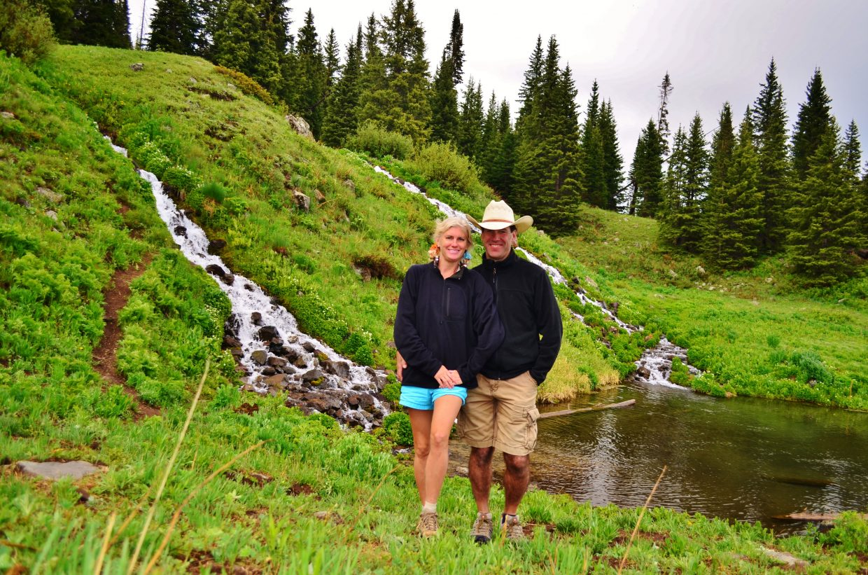 Rebecca and Scott enjoy a hike after the rain in the Flat Top Wilderness Area on Father's Day. Submitted by: Rebecca Musso