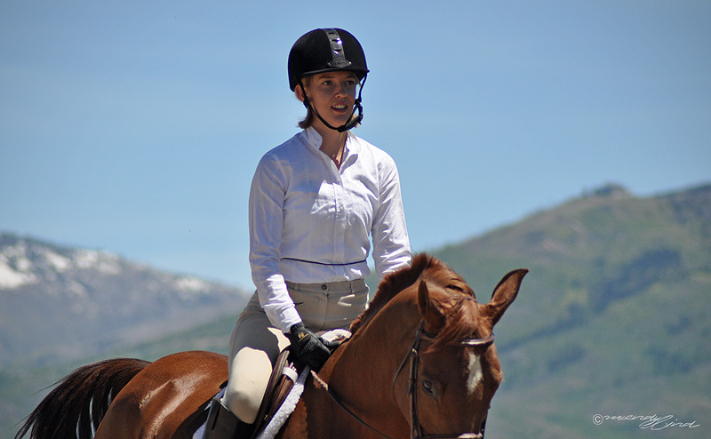 Ryan Fralick showing at the 2013 Cayuse Classic Horse show at Sidney Peak Ranch.