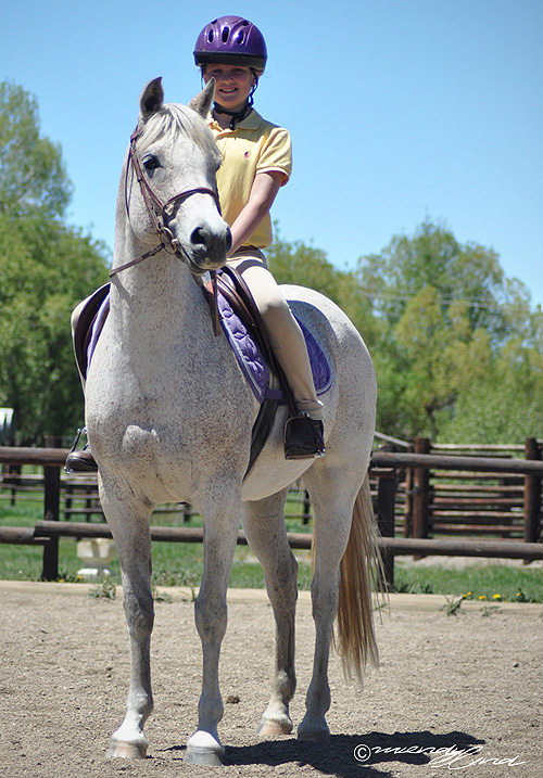 Amber Townsend at the 2013 Cayuse Classic Horse show at Sidney Peak Ranch.