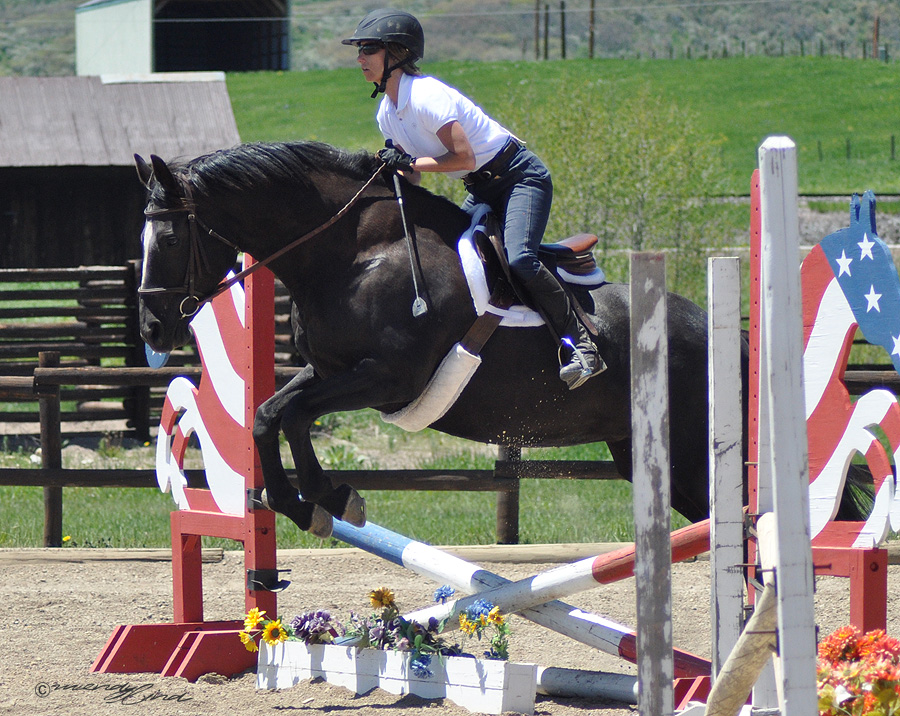 Michelle Townsend at the 2013 Cayuse Classic Horse show at Sidney Peak Ranch.