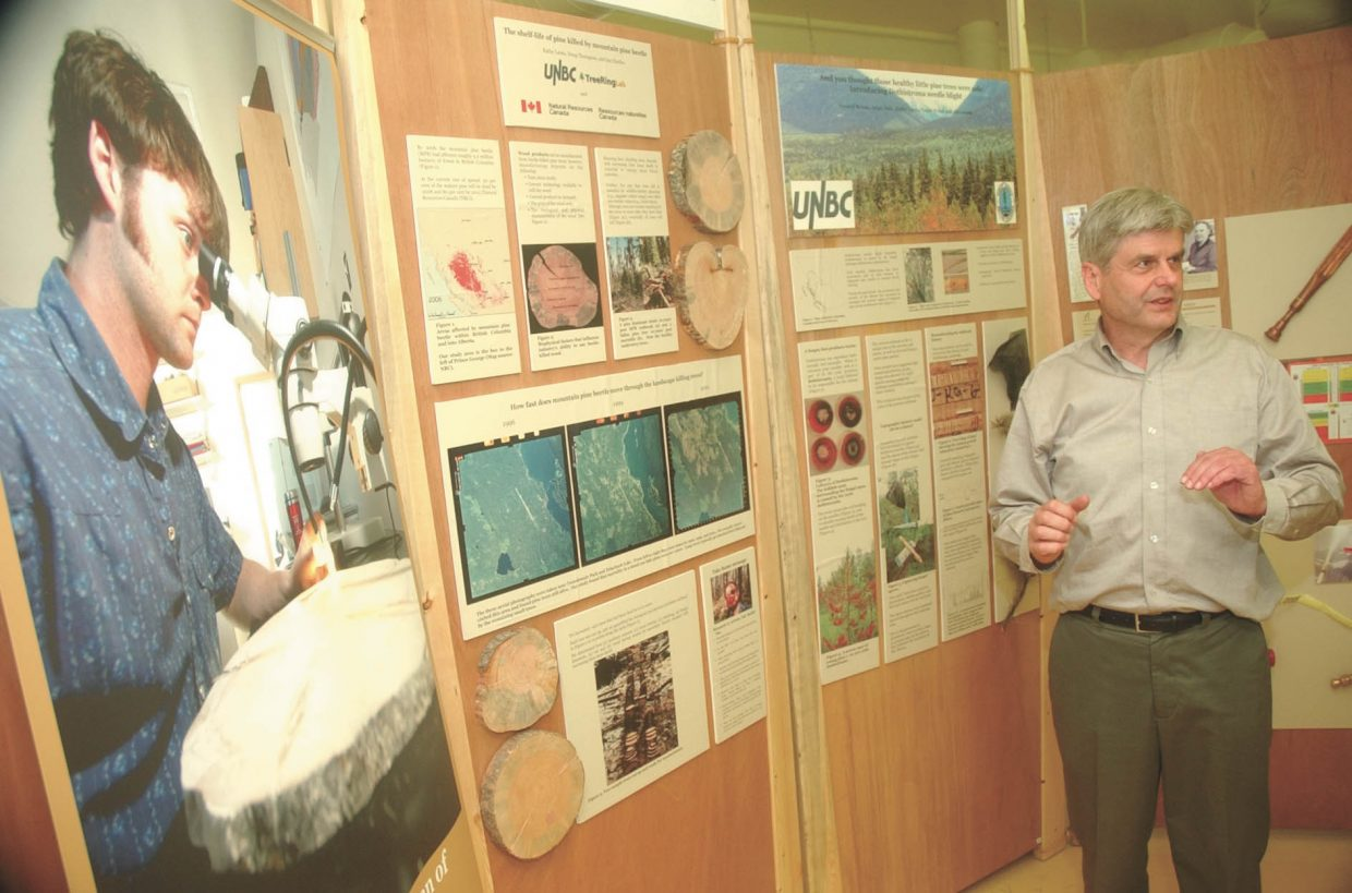 James Tirrul-Jones, the museum curator at Prince George Railway and Forestry Museum in British Columbia, discusses the pine beetle exhibit.