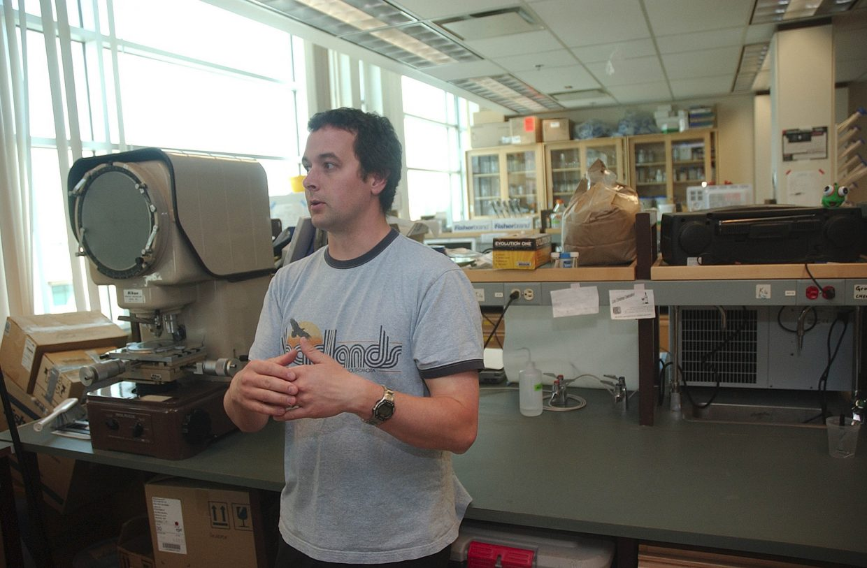 Dr. Dezene Huber with the University of Northern British Columbia in Prince George talks about his beetle research at his lab.