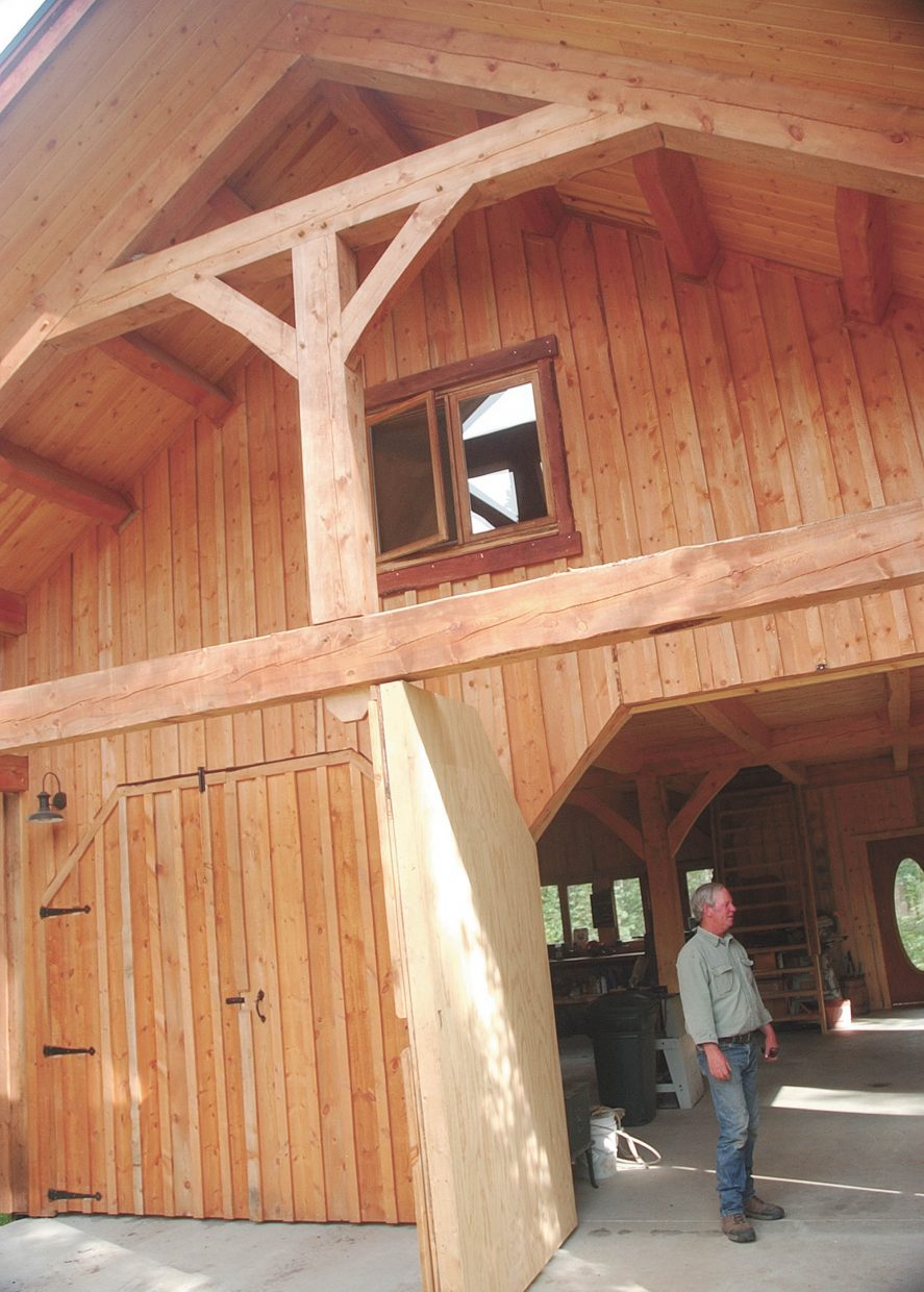 Charlie Cammer said using the wood to build his barn was part of the grieving process of losing his pines.