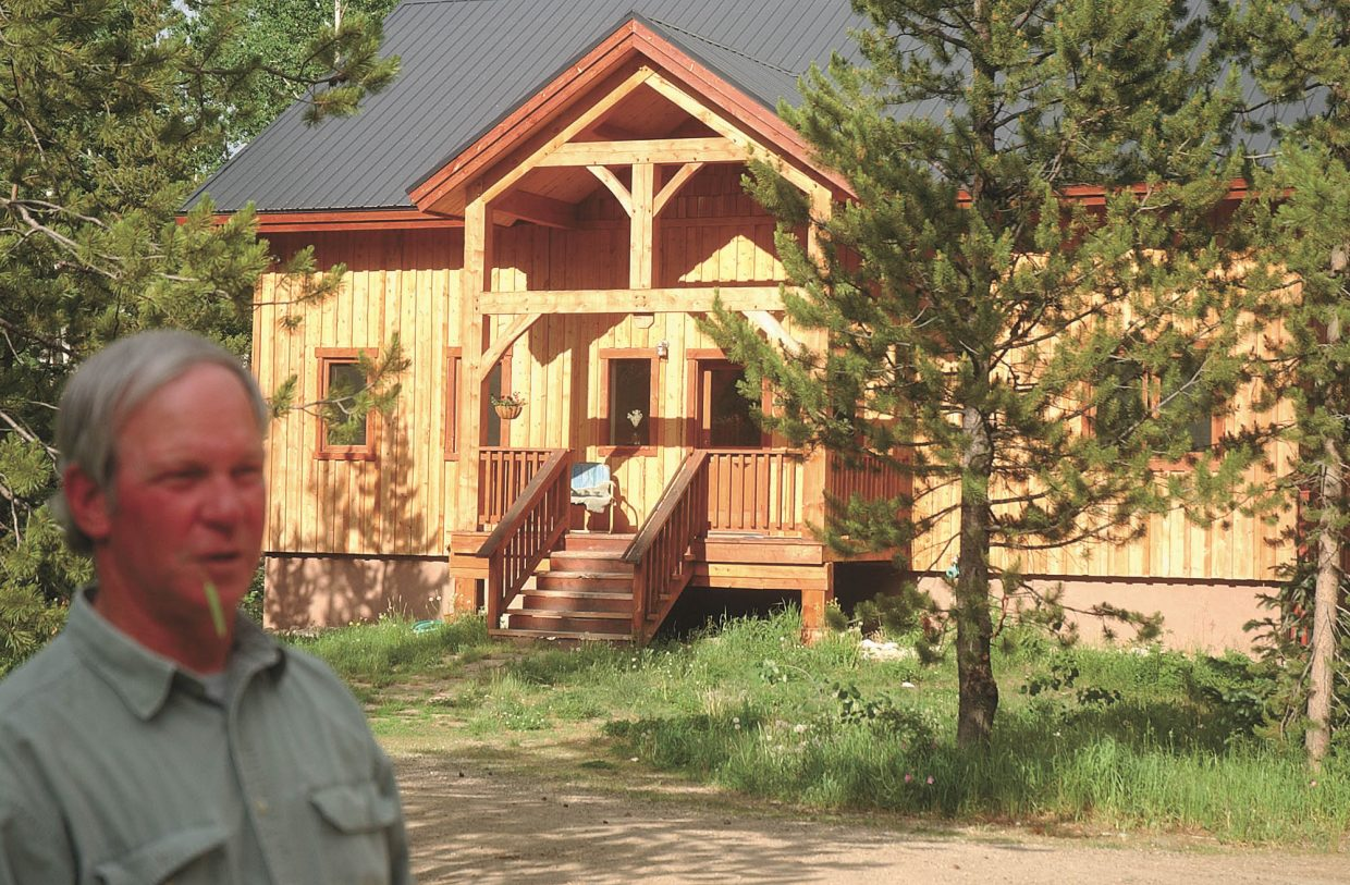 North Routt County resident Charlie Cammer built his home at his wife's request using lodgepole pine.