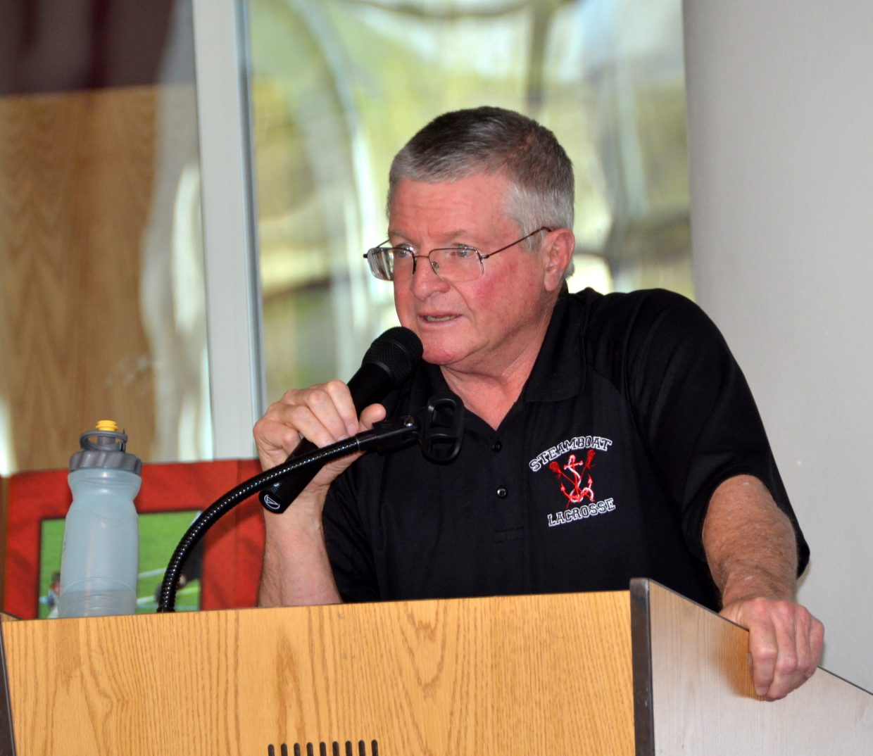 Best of luck to coach Bob Hiester, who spoke very eloquently at tonight's SSHS Lacrosse Banquet. It is coach Hiester's last banquet after 45 years of coaching in Colorado. He is retiring from coaching and teaching this year.
