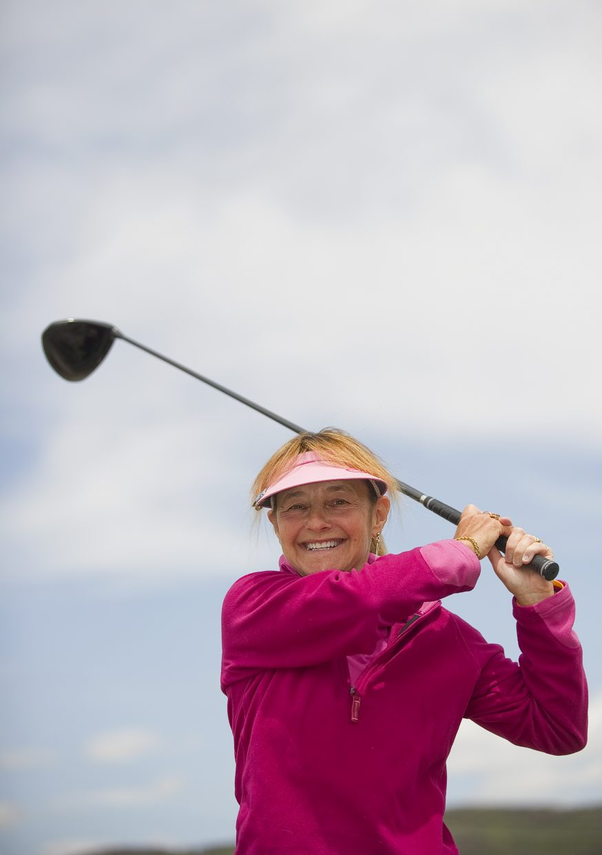 In winter, Linda Danter skis every day. And in summer, it's all golf.