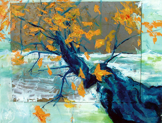 """""""On A Limb,"""" mixed media by Troy DeRose. His work is being represented by Schiesser Gallery in Ski Time Square."""