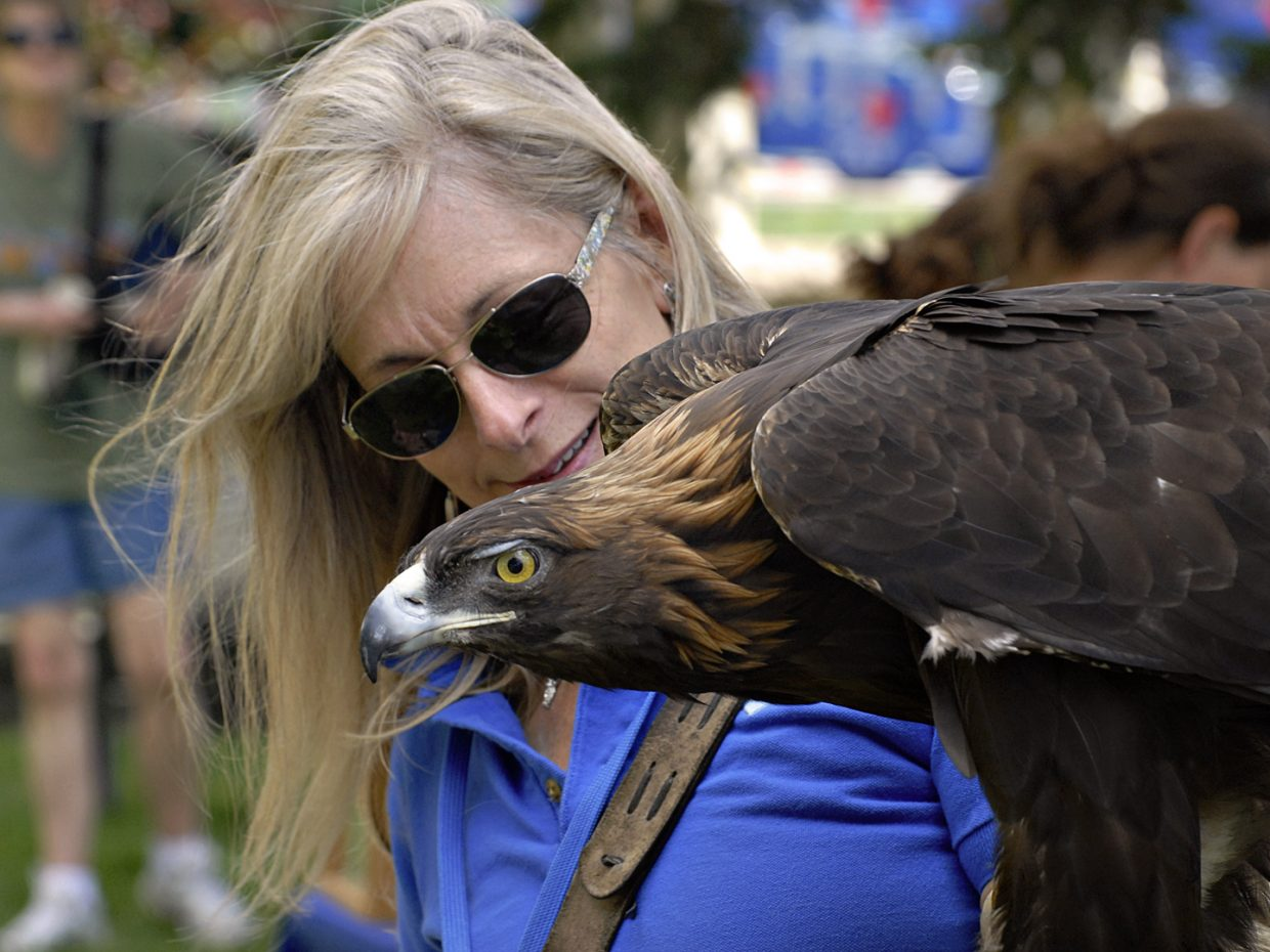 Golden Eagle and friend at art in the Park on Sunday. Submitted by: Jeff Hall