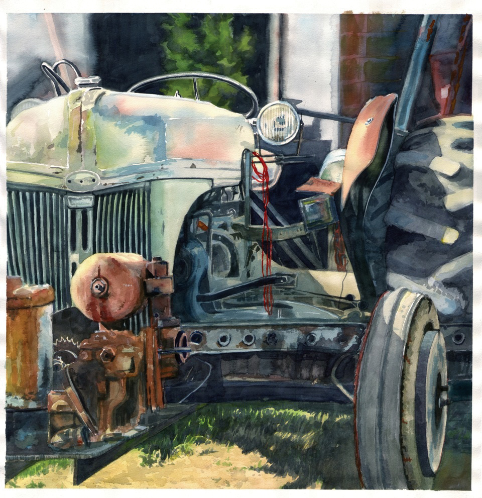 This still life image of a tractor is featured in local artist Greg Effinger's upcoming one-man show at the Depot Art Center.