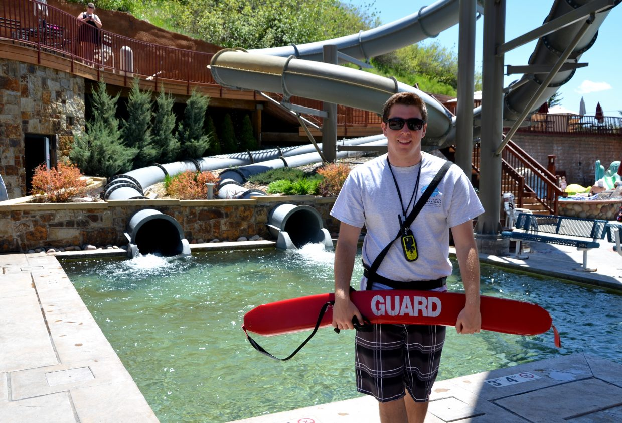 Please welcome Evan Burrell to the lifeguard team at Old Town Hot Springs. He is manning the slides, which are open from noon to 6 p.m. Burrell just arrived in Steamboat from California. He'll also help with the swim team. Submitted by: Shannon Lukens