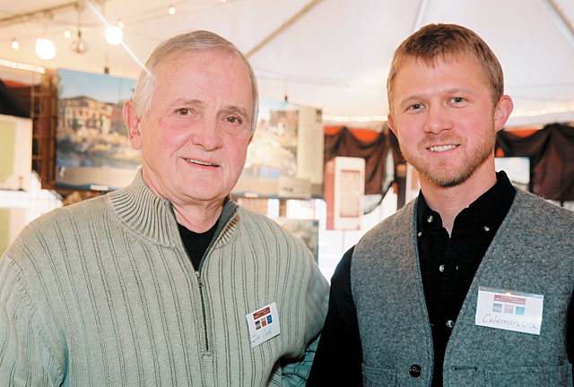 Developer Jim Cook and son Coleman Cook, a Realtor with Colorado Group Realty, welcome locals to Jim's Yampa Street office.