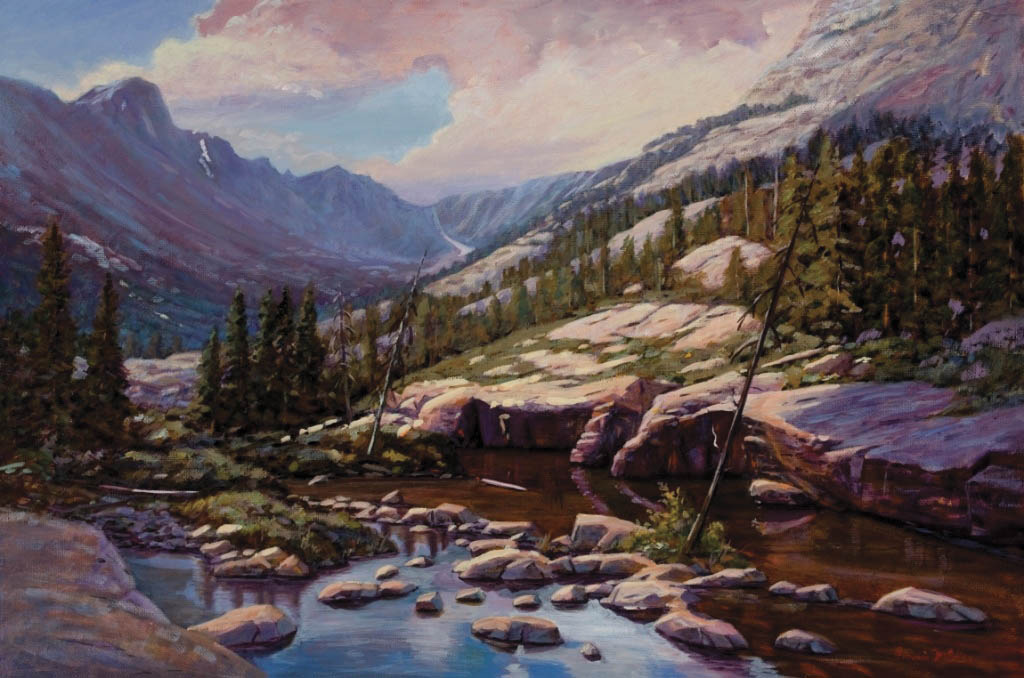 "Bonnie McGee chose high-altitude, remote locations for the landscapes she has on display at Artists' Gallery of Steamboat this month. A reception for ""Prelude to Spring"" is from 5 to 8 p.m. today."