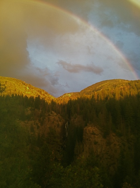 Photo taken at about 7:20 p.m. on Sunday, Sept. 2. Overlook at Fish Creek Falls. Submitted by: Paul Hebert
