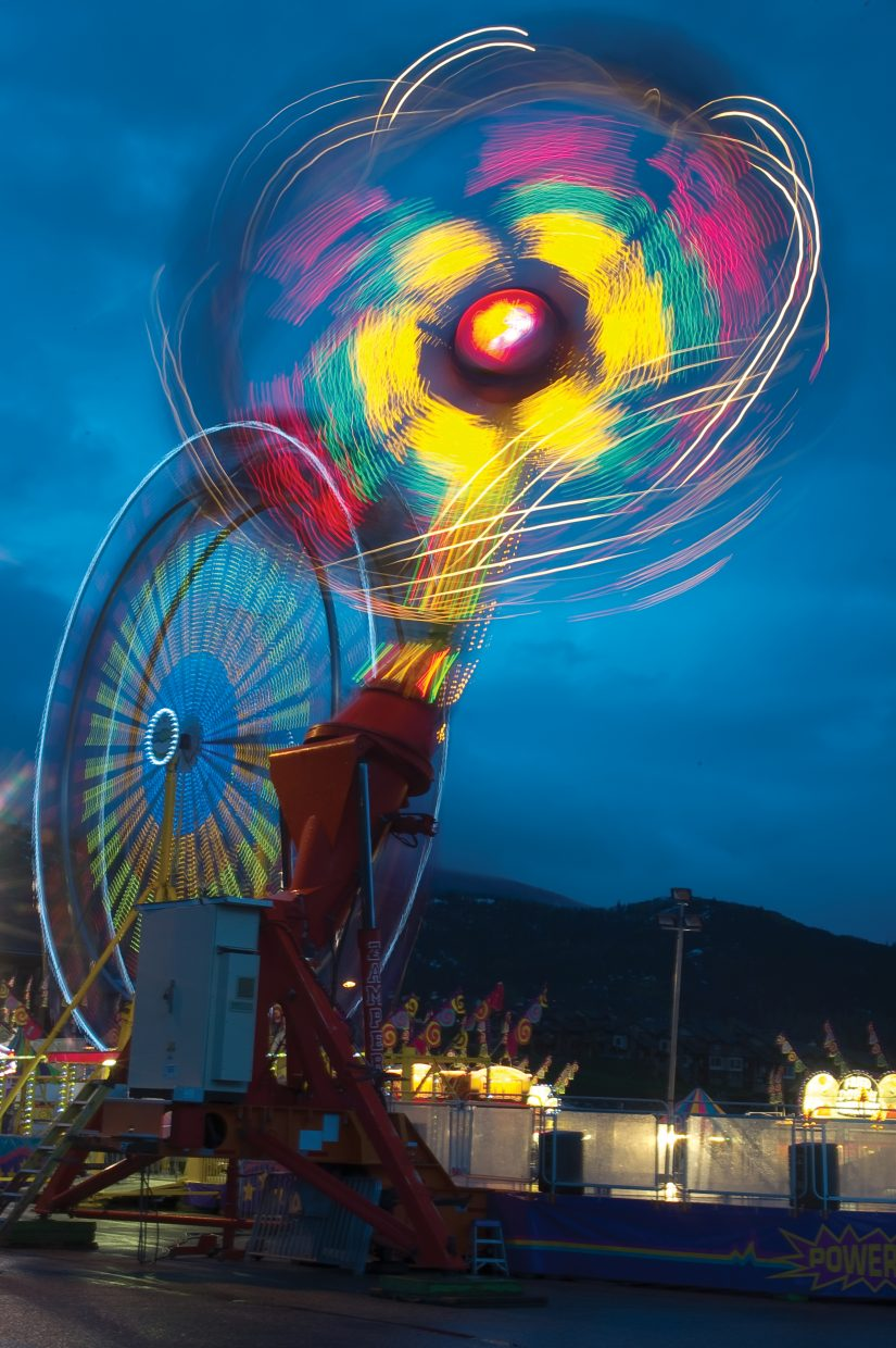 Light Moves: The carnival in May brought spinning lights and thrilling rides to help kick off summer.