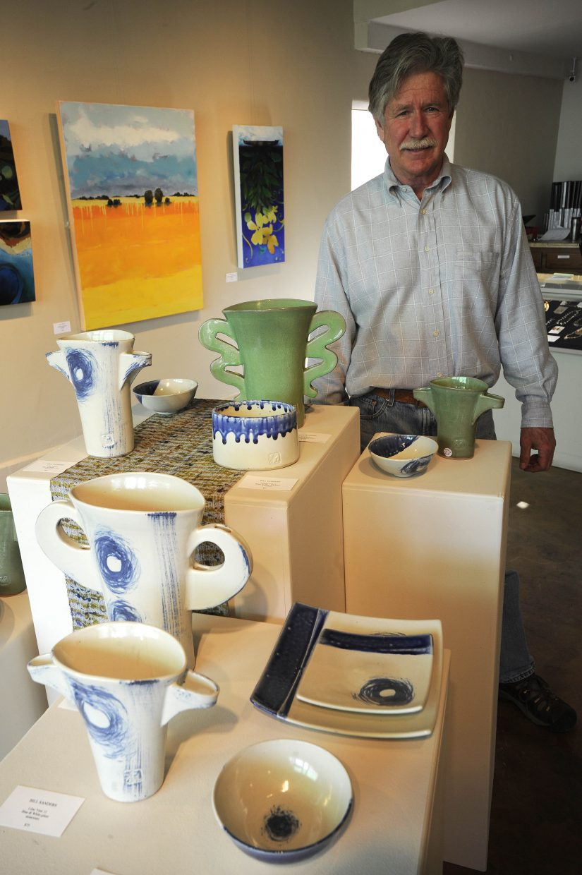 Bill Sanders will show his serving dishes and lilac vases for First Friday at the Artists' Gallery of Steamboat.