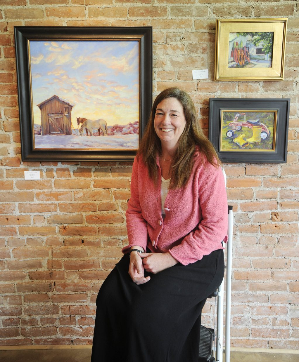 Dancy Gould St. John's work focuses on Steamboat scenes.