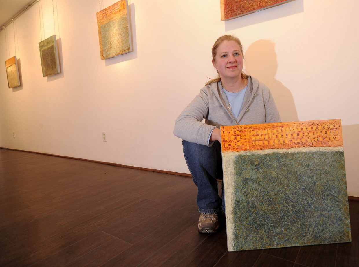 Susan J. Thompson has 39 encaustic paintings on display at K. Saari Gallery. An opening reception will be held from 5 to 8 p.m. during the First Friday Artwalk.
