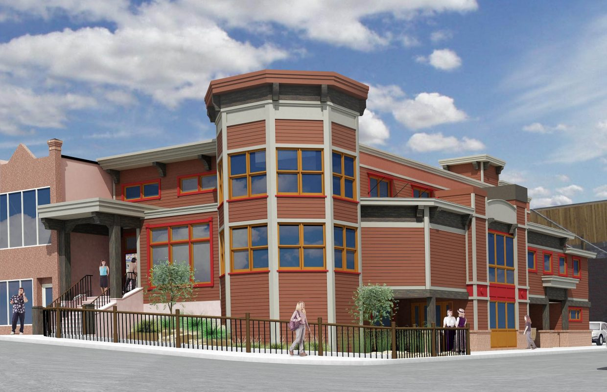 An artist's rendering of the completed building.