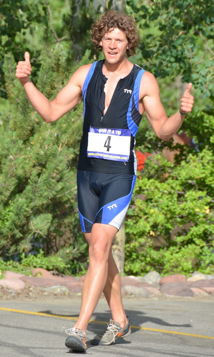 Eddie Rogers won Saturday's Give it a Tri triathlon. Submitted by: Shannon Lukens