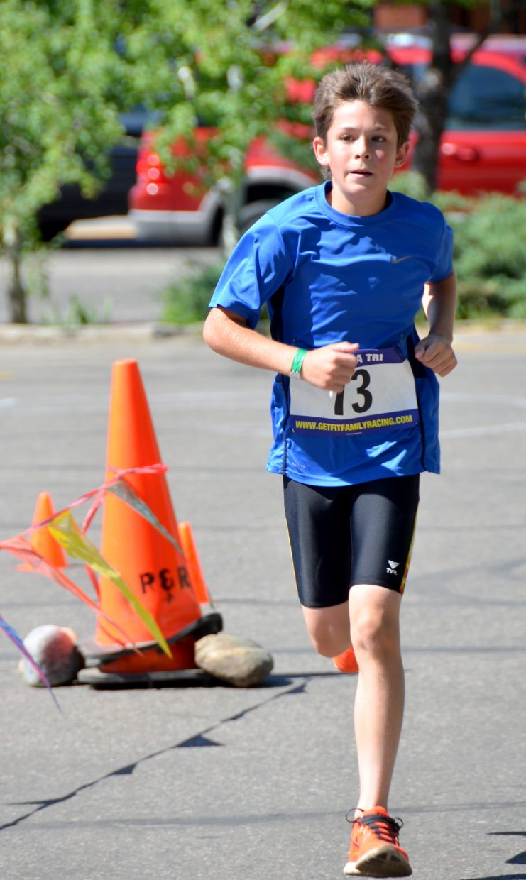 Evan Lush participates in Saturday's Give it a Tri. Submitted by: Shannon Lukens