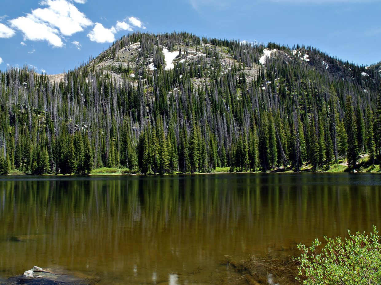 Gold Creek lake, Mount Zirkel Wilderness Area. Submitted by: Jeff Hall