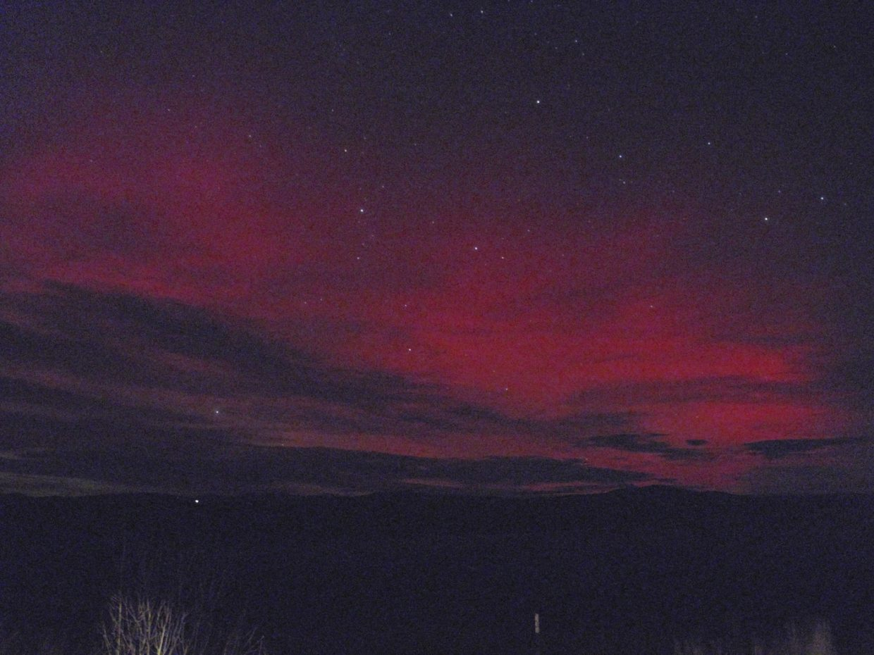 Aurora borealis in Hayden at 7:40 p.m. Oct. 24.