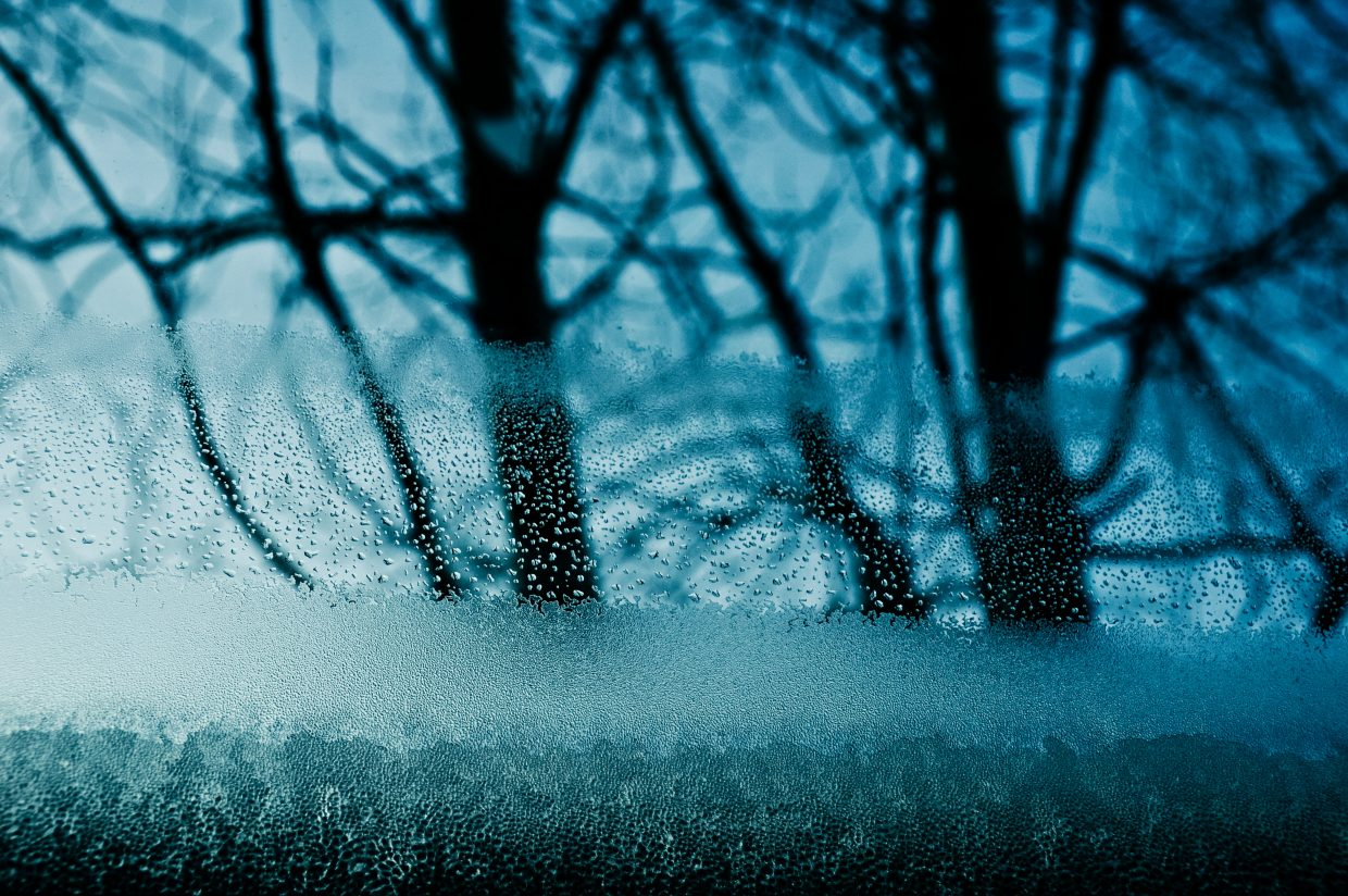 Frosty, cold morning