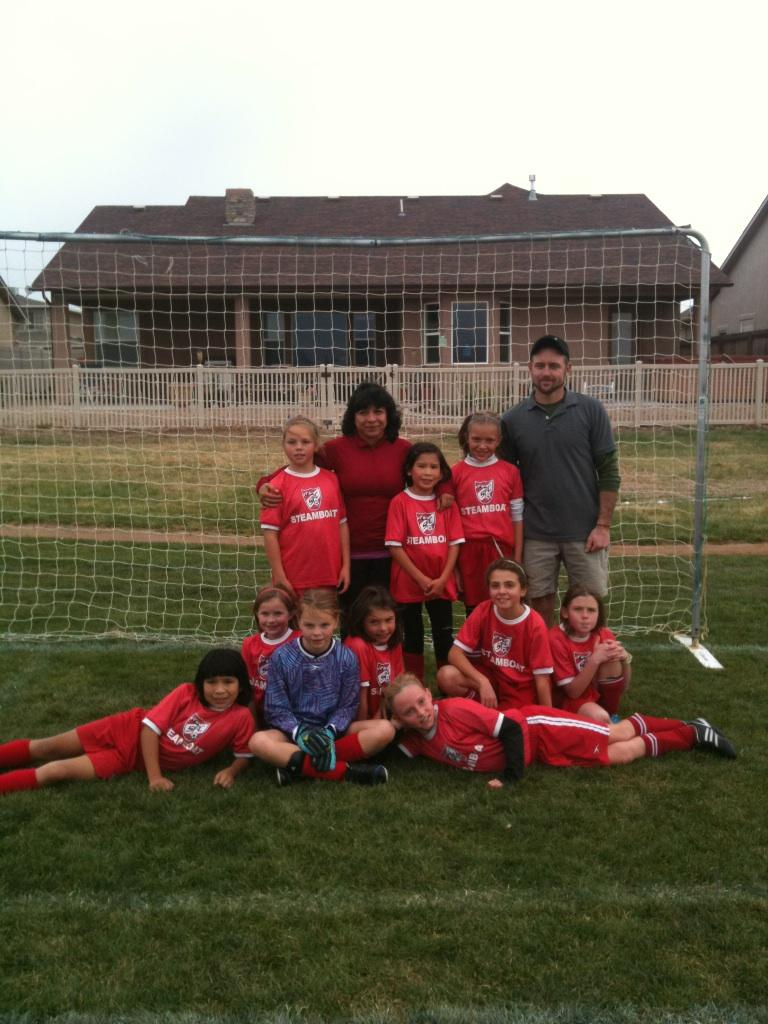 U9 and U10 girls soccer team parents want their girls to know how proud they were last weekend.