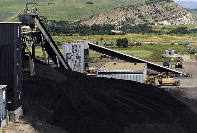 Mountains of coal arrive daily at the Hayden Station Power Plant in order to keep the plant running at full capacity. The plant burns about 5,000 tons of coal each day and nearly 1.8 million tons each year.