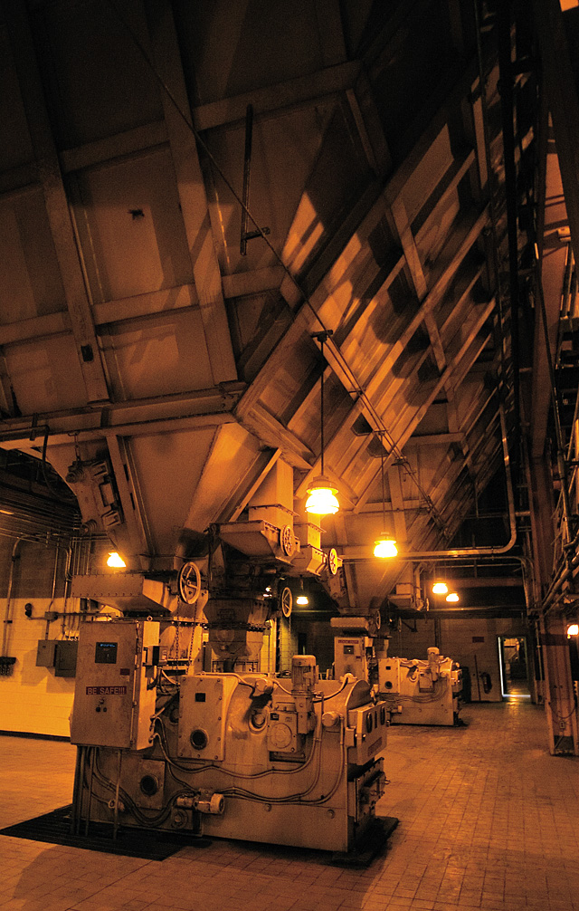 Coal feeders work to deliver coal to combustion chambers inside Hayden Station during a plant tour July 2. The feeders are able to process more than 17 tons of coal per hour.