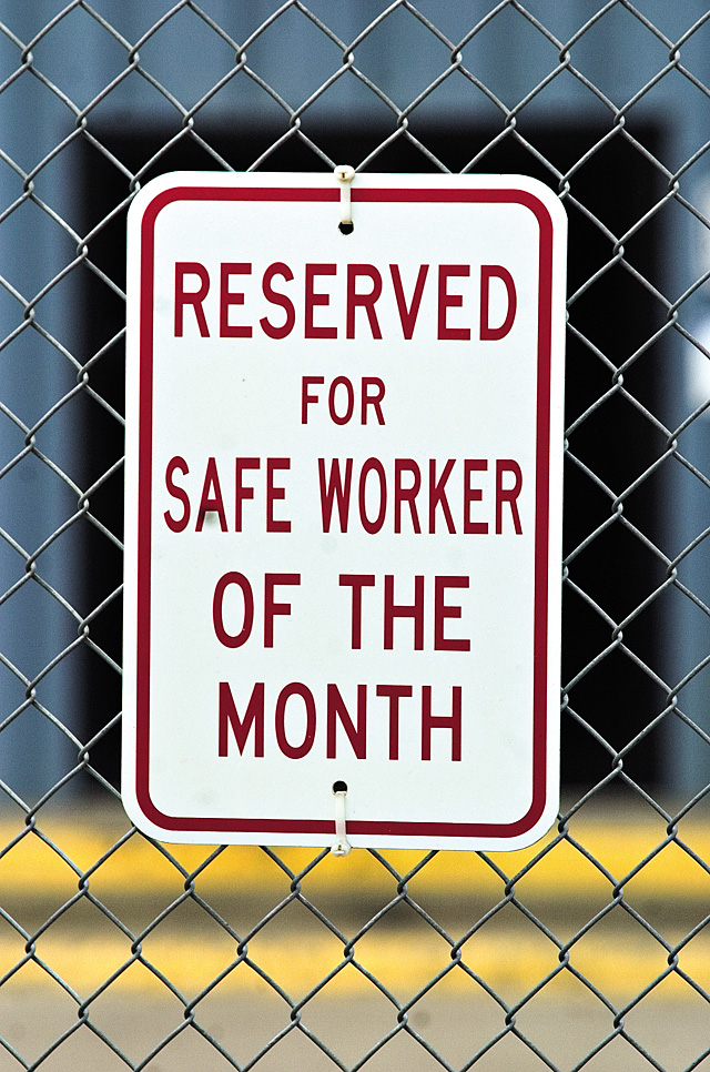 Safety signs, such as this one shown on July 2, hang on several walls inside and outside of Hayden Station. Safety is the utmost concern for the 95 employees at the plant.