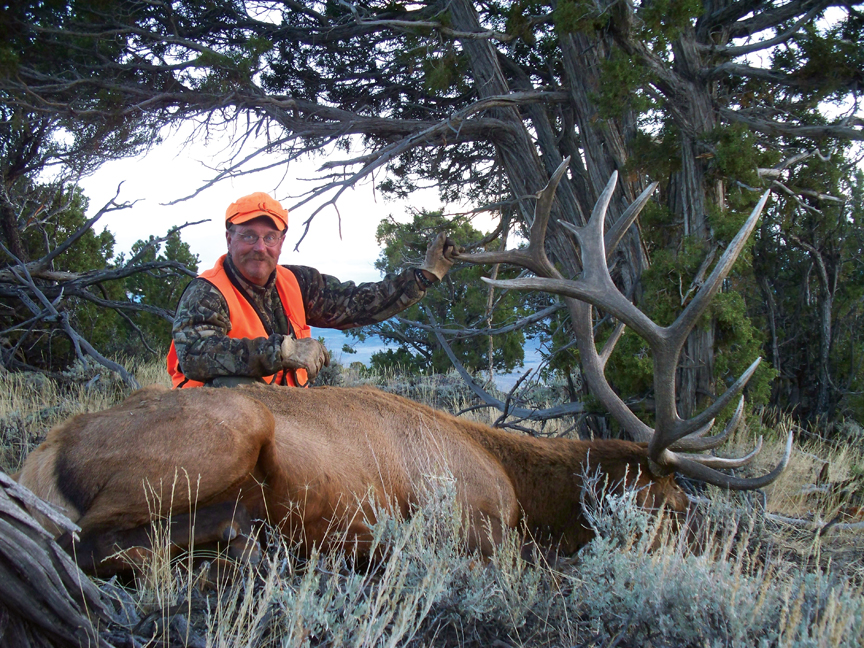 Dave Colburn, of Denver, scored his bull elk in Unit 201 west of Maybell in Moffat County.