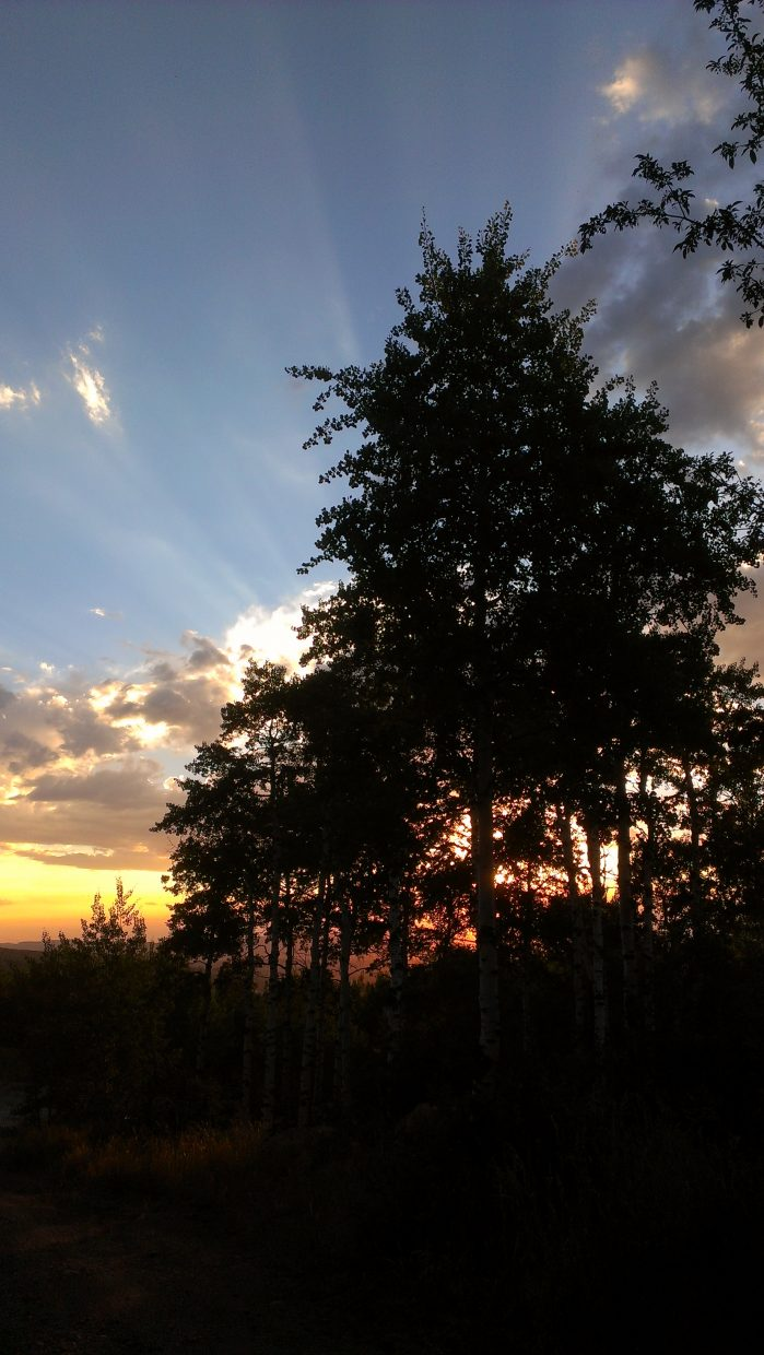 Thursday evening sunset from Boulder Ridge Road. Submitted by: Sam Daniels