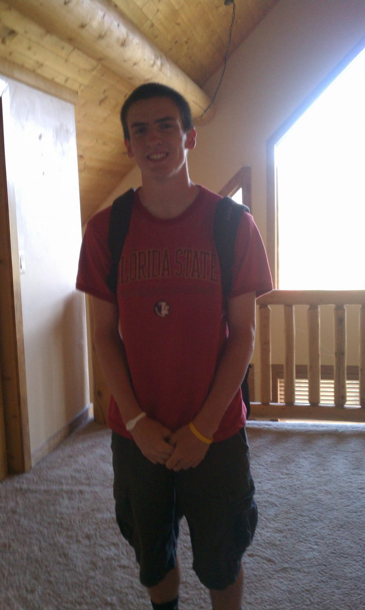 First day of school for Brandon Miller (12th grade). Submitted by: Nicole Tucker