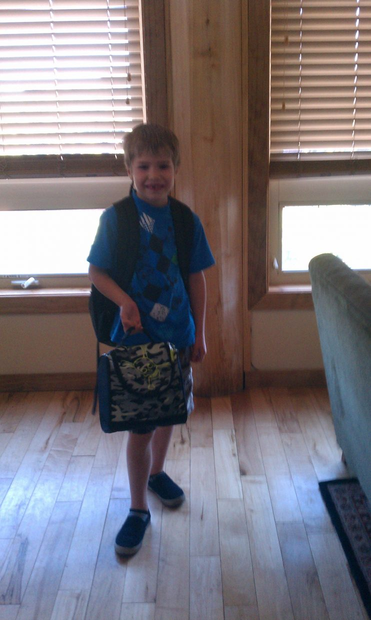 First day of school for Dawson Tucker (first grade). Submitted by: Nicole Tucker