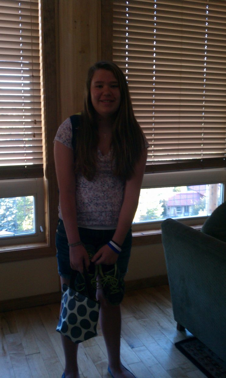 First day of school for Gabby Tucker (seventh grade). Submitted by: Nicole Tucker
