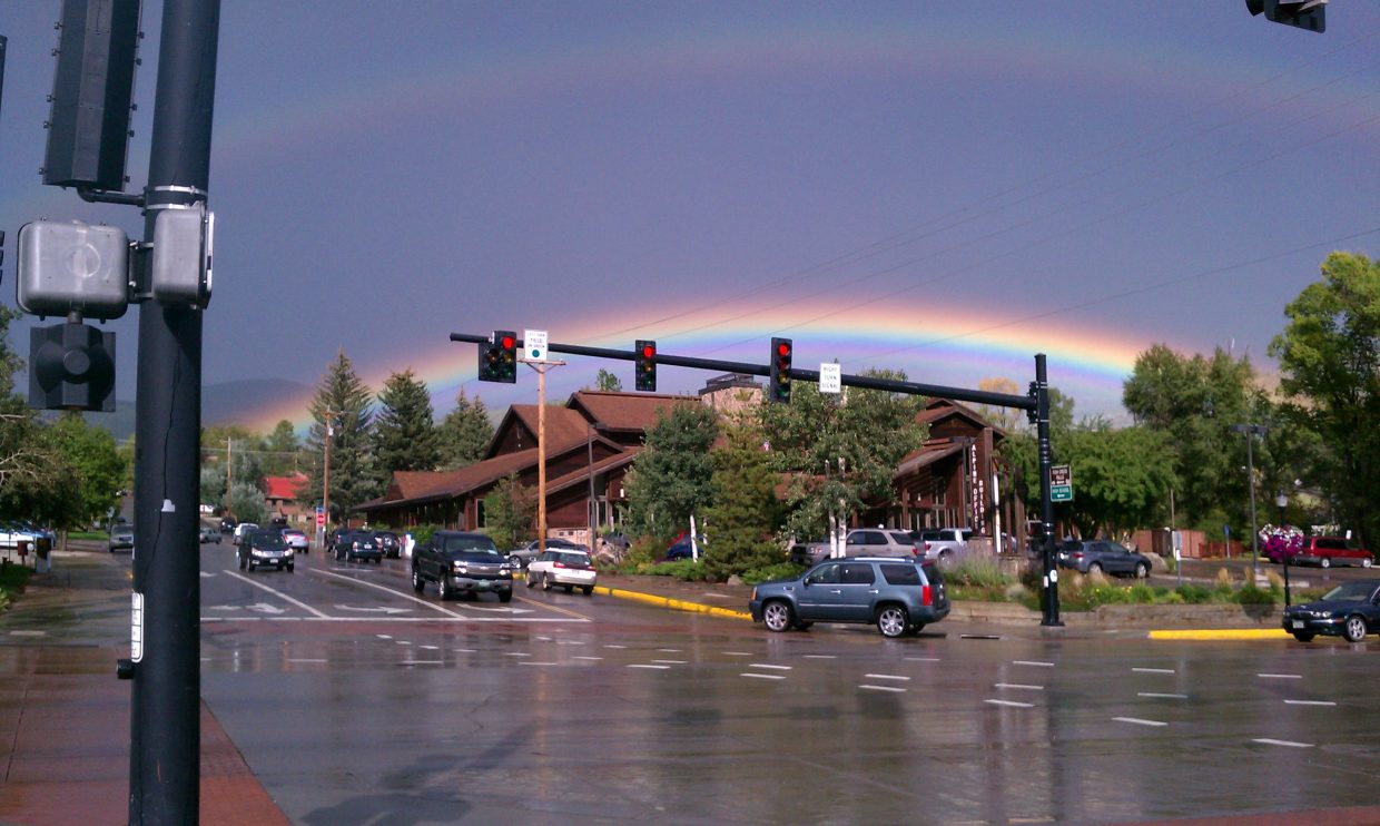 Double rainbow. Submitted by: Patty Bell